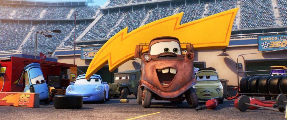 Abschleppwagen Hook wird für immer ein glühender Fan seines Kumpels Lightning McQueen sein.