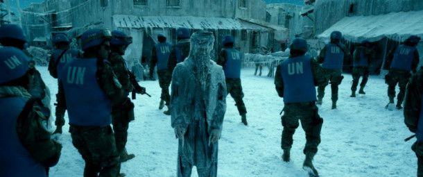 Eine der schrecklichen Auswirkungen des ersten Geostorms: Afghanistan ist zur Eiswüste erstarrt.