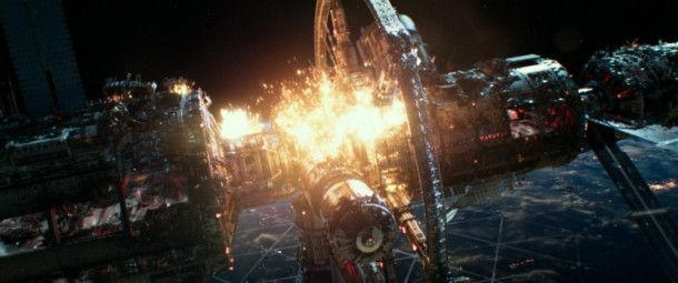 Auf der ISS-Raumstation bricht ein Feuer aus.