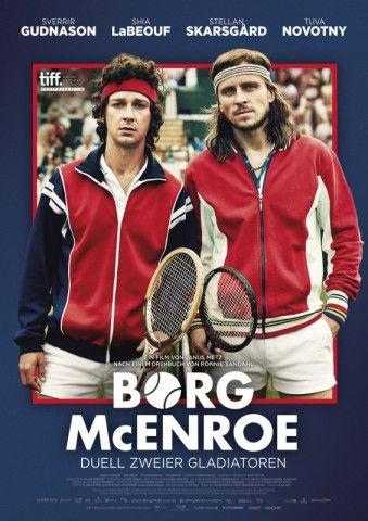 """Fantastisches Sportlerdrama """"Borg/McEnroe"""": Das mit Shia LaBeouf (McEnroe) und dem schwedischen Borg-Doppelgänger Sverrir Gudnason besetzte Drama ist einer der besten Filme des Kinojahres 2017."""