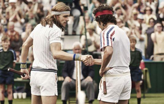 """Toll inszeniertes Tennis-Match: Das Wimbledon-Finale 1980 setzt der dänische Regisseur Janus Metz bei seinem Spielfilmdebüt brillant und mit viel Zeitkolorit in Szene. Der in jungen Jahren preisgekrönte Dokumentarfilmer drehte übrigens auch eine Folge der zweiten Staffel des HBO-Dramas """"True Detective""""."""