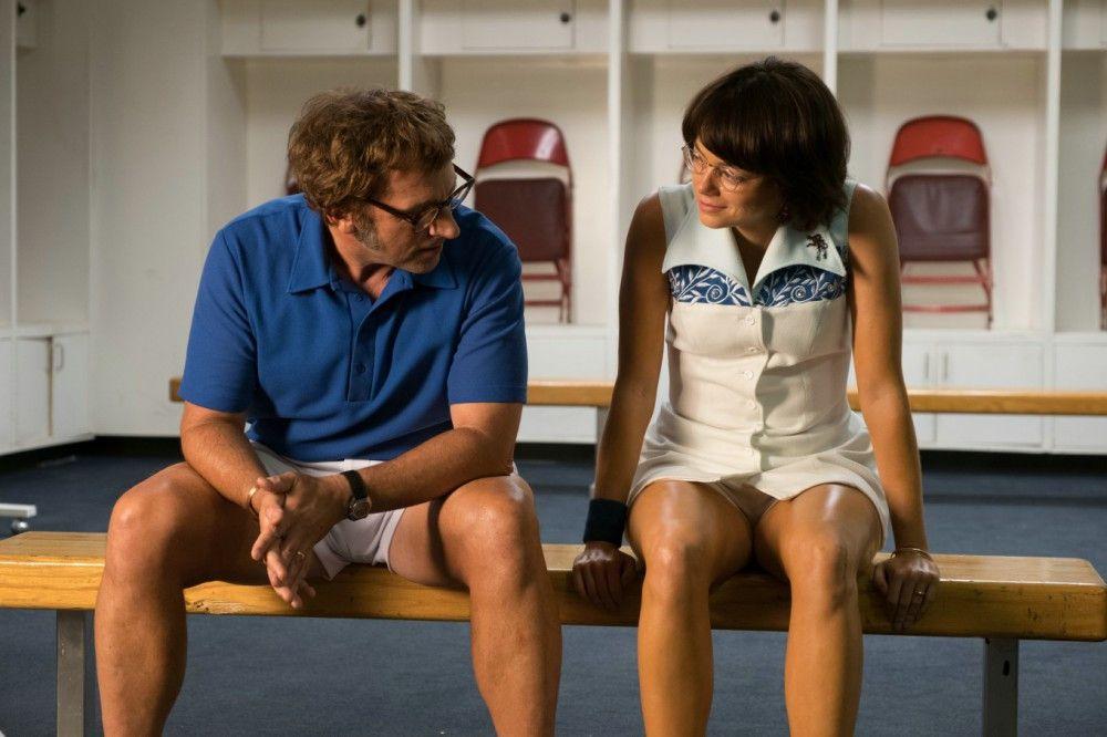 Am Ende wurden sie Freunde: Bobby Riggs (Steve Carell) und Billie Jean King (Emma Stone).