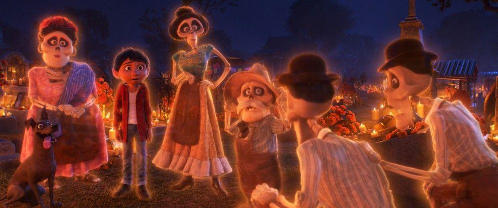 Plötzlich findet Miguel sich im Reich der Toten, inmitten seiner verstorbenen Verwandten wieder.