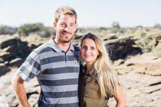 """Haben sich in der 13. Staffel von """"Bauer sucht Frau"""" gefunden: Gerald, Farmer aus Namibia, und Anna. Mittlerweile sind sie ein Ehepaar."""