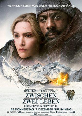 """""""Zwischen zwei Leben - The Mountain between us"""" mit Kate Winslet und Idris Elba bietet eine Survival-Romanze mit Dating-Movie-Appeal."""
