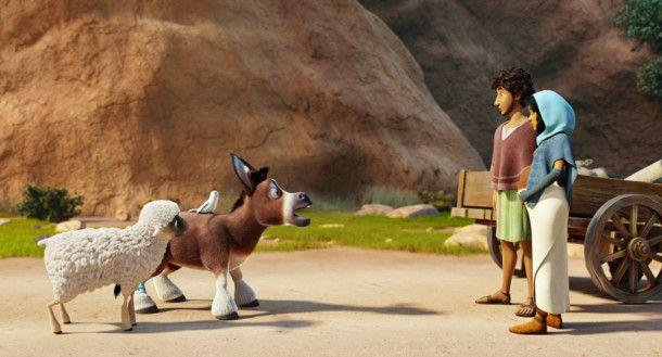 Ein Esel kommt Maria und Josef gerade recht ...