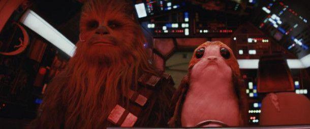Chewbacca hat die Porgs mit an Bord genommen.