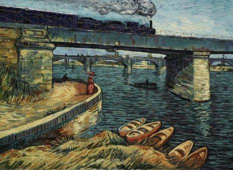 94 Ölgemälde van Goghs wurden für diesen Film sehr nah am Original reproduziert und bilden die Kulisse.