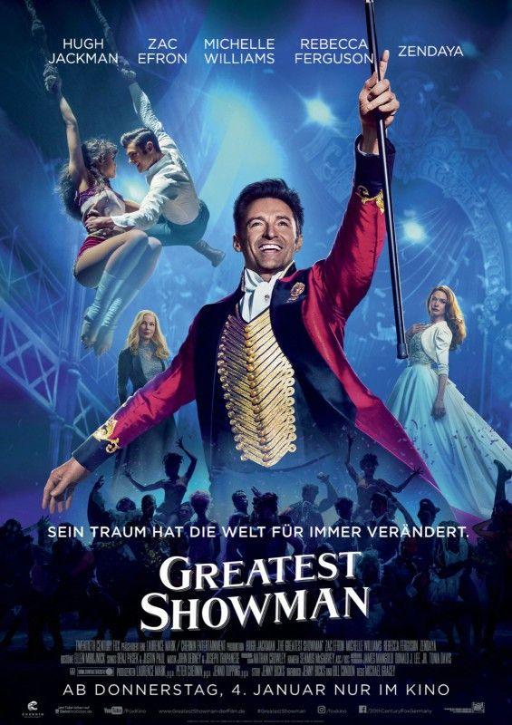 """Eine gute Show muss nicht viel mehr leisten, als das Publikum glücklich zu machen: Hugh Jackman singt und tanzt die Hauptrolle im Kinomusical """"Greatest Showman""""."""
