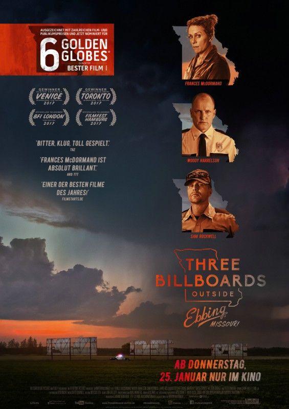"""In der hochgradig oskarverdächtigen Tragikomödie """"Three Billboards Outside Ebbing, Missouri"""" brillieren Regie und Drehbuch genauso wie die hervorragenden Darsteller."""
