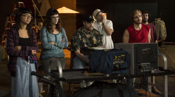 Sandy (Seht Rogen) verzweifelt am Set zunehmend.