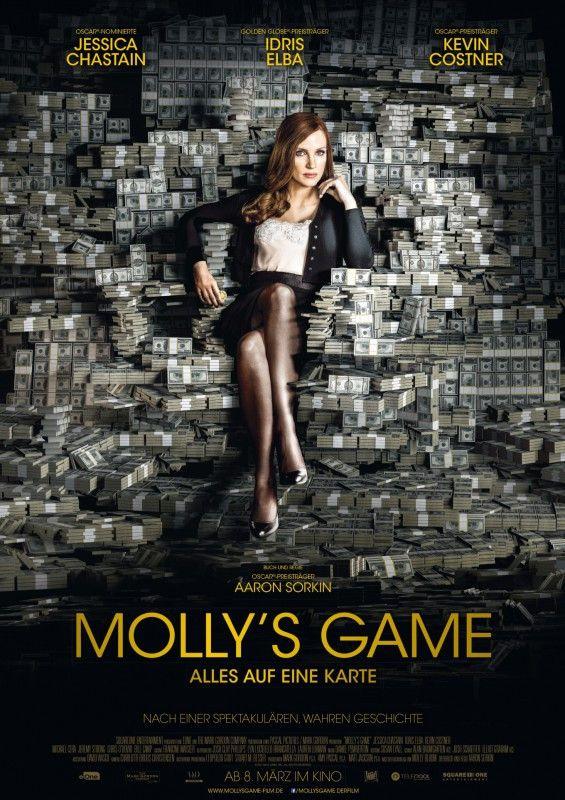 """Indem sie Geschäftsmänner, Rockstars und Hollywoodschauspieler an einen Pokertisch brachte, verdiente Molly Bloom Millionen. """"Molly's Game"""" erzählt ihre Geschichte."""