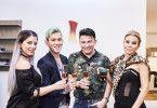 """Dschungelkönigin Jenny Frankhauser, Daniele Negroni, Matthias Mangiapane und Tatjana Gsell liefern sich beim """"perfekten Dinner"""" erneut einen Wettkampf."""