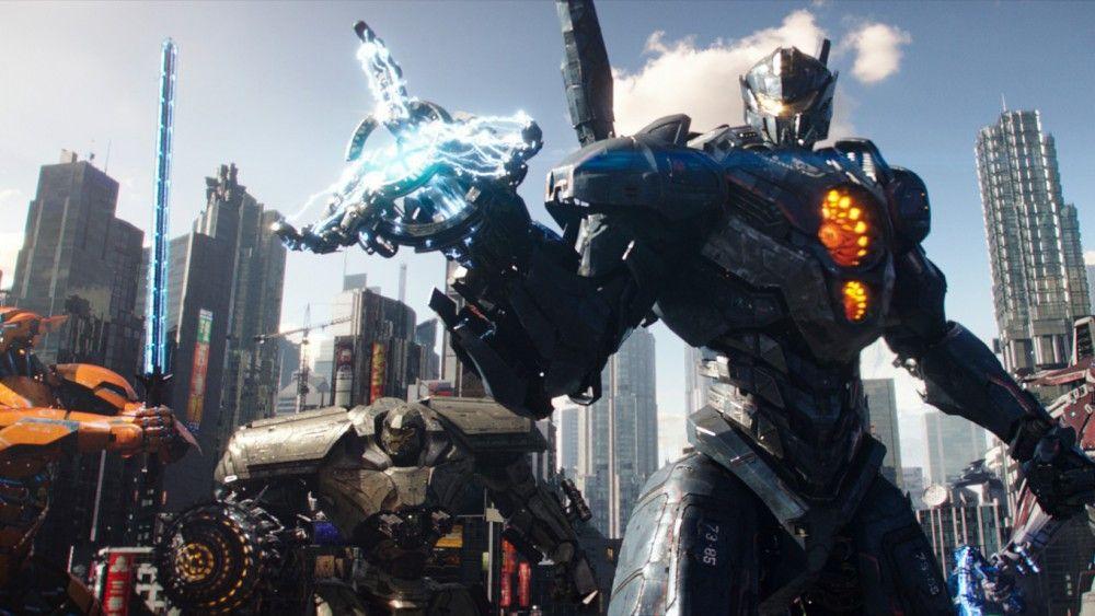 Kampfroboter, sogenannte Jaeger-Supermaschinen, geführt von Menschen, sollen die Monster besiegen.