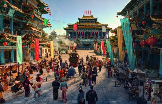 Das an das alte China erinnernde Mandala wurde in den Filmstudios Babelsberg prächtig und detailverliebt in Szene gesetzt.