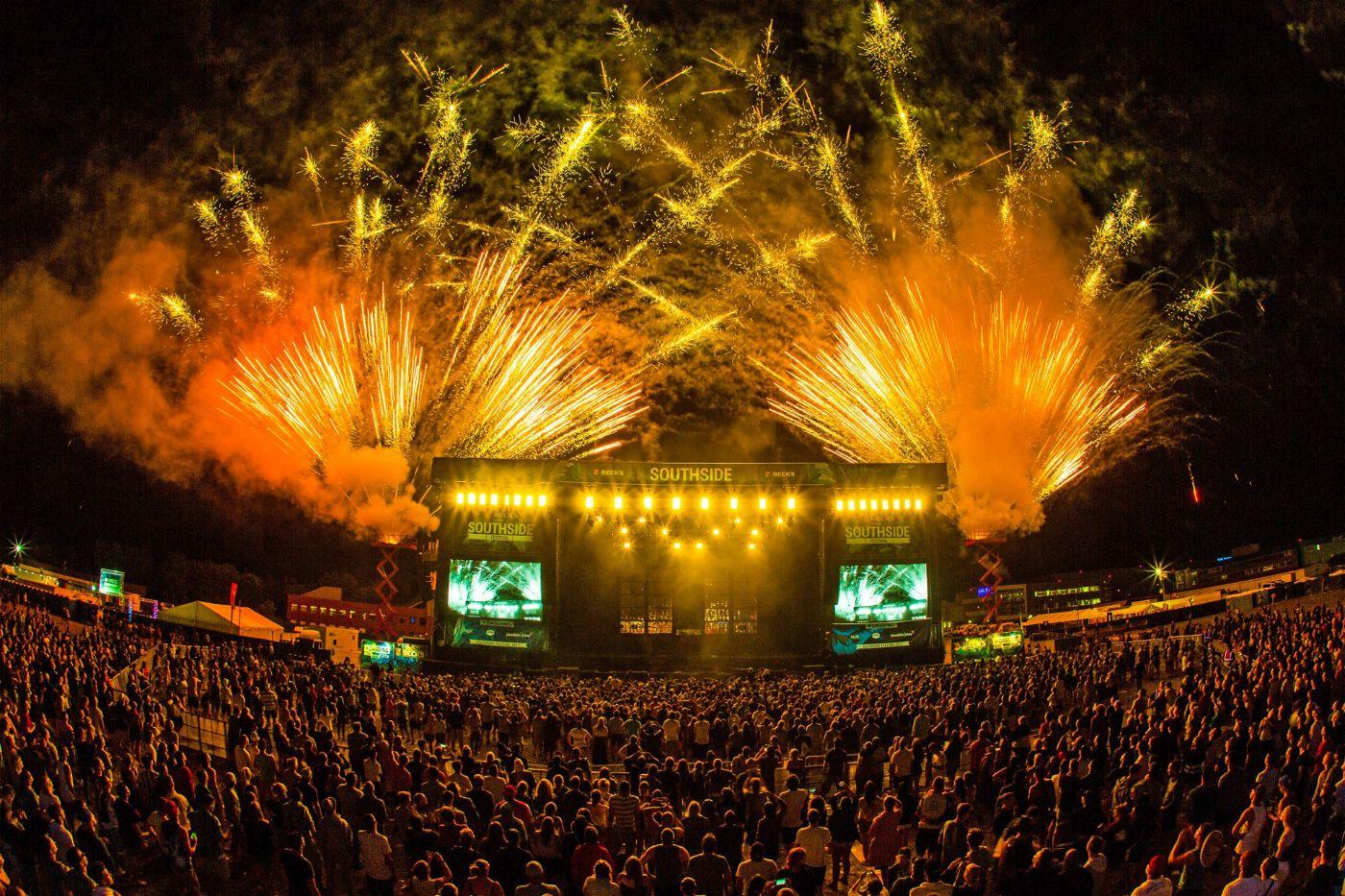Spektakel im Süden Deutschlands: Beim Southside-Festival treffen sich Zehntausende Besucher.
