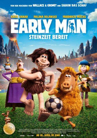"""Die kreativen Köpfe hinter """"Wallace & Gromit"""" und """"Shaun, das Schaf"""" kehren mit der Fußballkomödie """"Early Man - Steinzeit bereit"""" auf die Kinoleinwände zurück."""