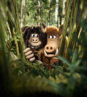 Ein Freund, ein guter Freund: Wildschwein Hognob (Nick Park) hilft seinem Kumpel Dug (Friedrich Mücke) mehr als einmal aus der Patsche.