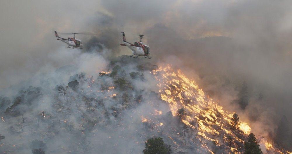 Die Aufnahme des Feuers hinterlassen Eindruck bei Zuschauer.
