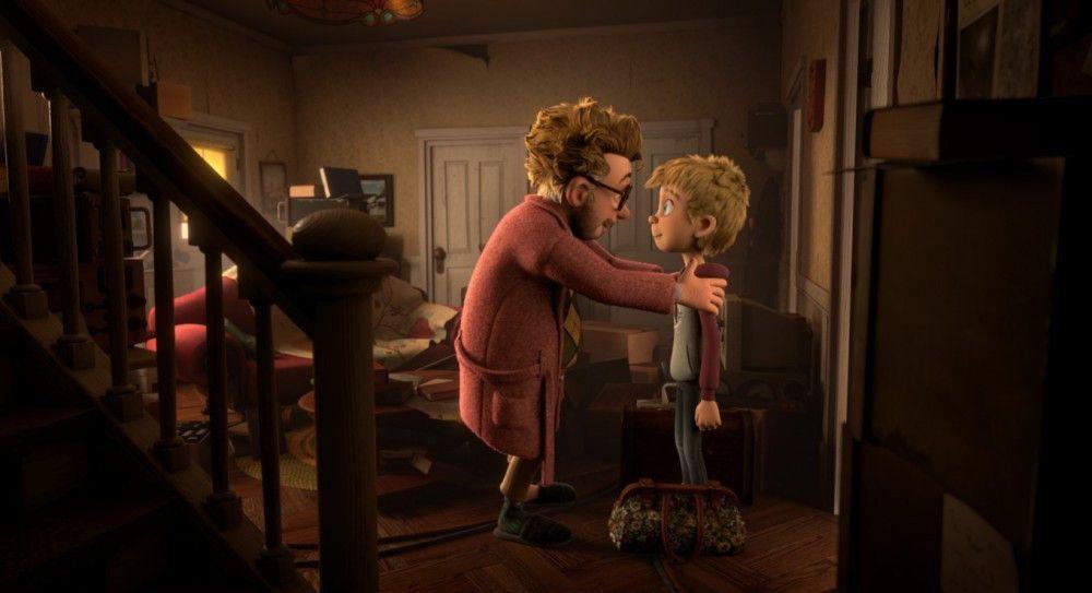 Luis' Vater (gesprochen von Martin May, links) versucht seinen Sohn zu überzeugen, dass es tatsächlich Aliens gibt.