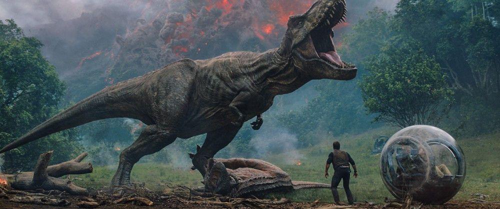 """Der T-Rex bleibt auch 25 Jahre nachdem """"Jurassic Park"""" in die Kinos kam ein beeindruckendes Leinwand-Monster."""