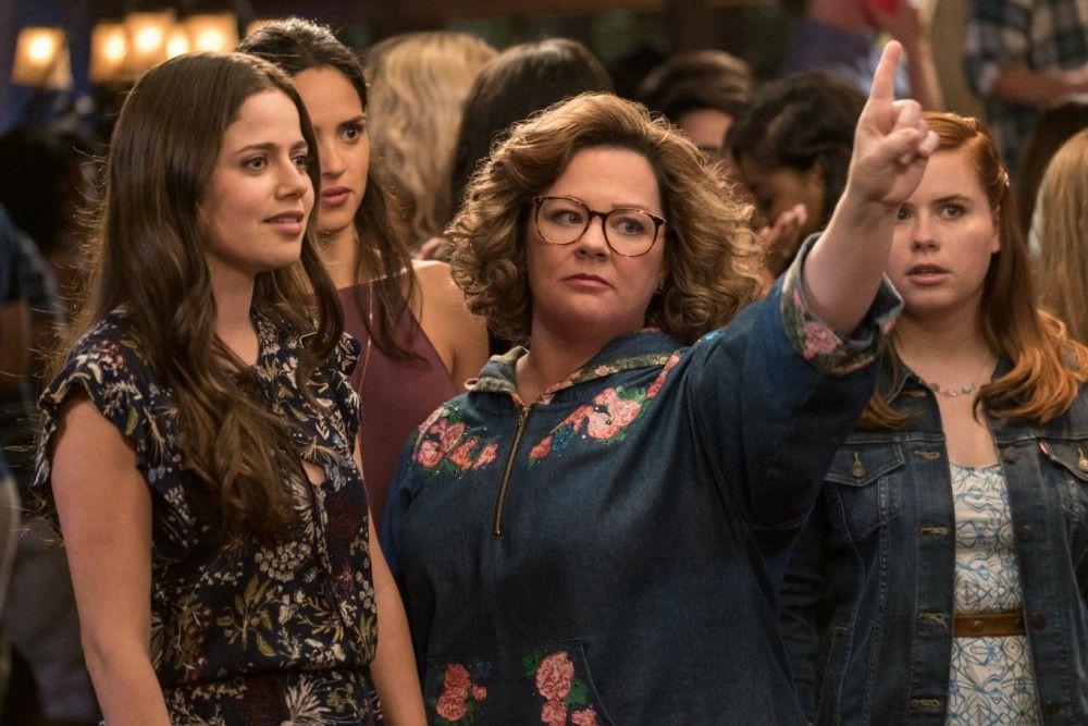 Dass die Mama (Melissa McCarthy, Mitte) wieder aufs College geht, findet Tochter Maddie (Molly Gordon, links) nicht sehr berauschend.