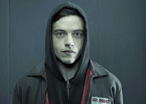"""Rami Malek in seiner Rolle als Elliot Alderson in der Hacker-Serie """"Mr. Robot""""."""