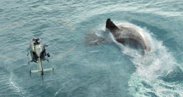 """Hai vs. Hubschrauber: Der """"Meg"""" ist eine Urzeitkreatur, die man eigentlich für ausgestorben hielt."""