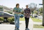"Joaquin Phoenix (links) und Regisseur Gus van Sant bei den Dreharbeiten zu ""Don't worry, weglaufen geht nicht""."