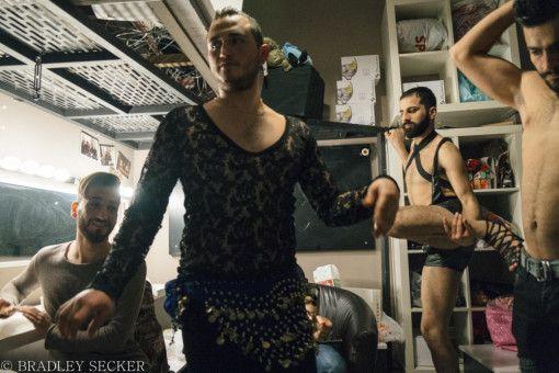 Husein (links) mit seinen Konkurrenten, die keine sind. Alle der syrischen Homosexuellen wollen nur gehört werden.