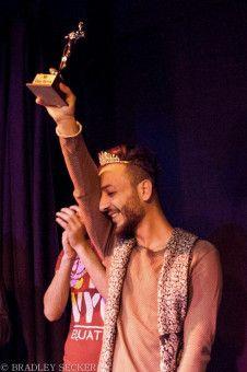 Huseins Performance bei der Wahl zum Mr. Gay Syria war von Erfolg gekrönt.