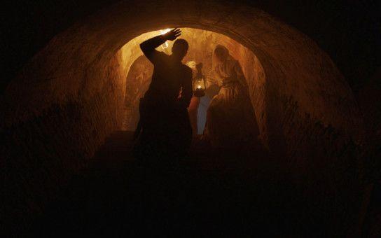 Die Treppe zum Kellergewölbe ist immer ein guter Startpunkt für eine Geisterjagd.