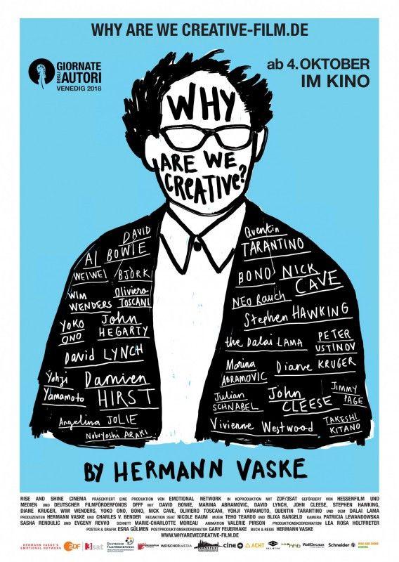 30 Jahre lang stellte Regisseur Hermann Vaske Prominenten die immer gleiche Frage: Warum sind Sie kreativ?