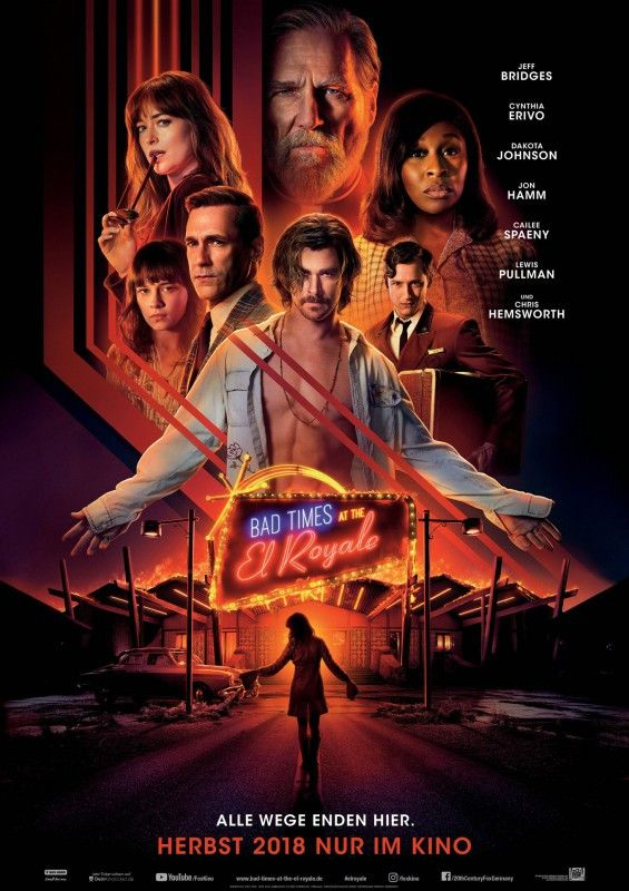 """Im Thriller """"Bad Times at the El Royale"""" treffen sieben Fremde in einem heruntergekommenen Hotel aufeinander ..."""