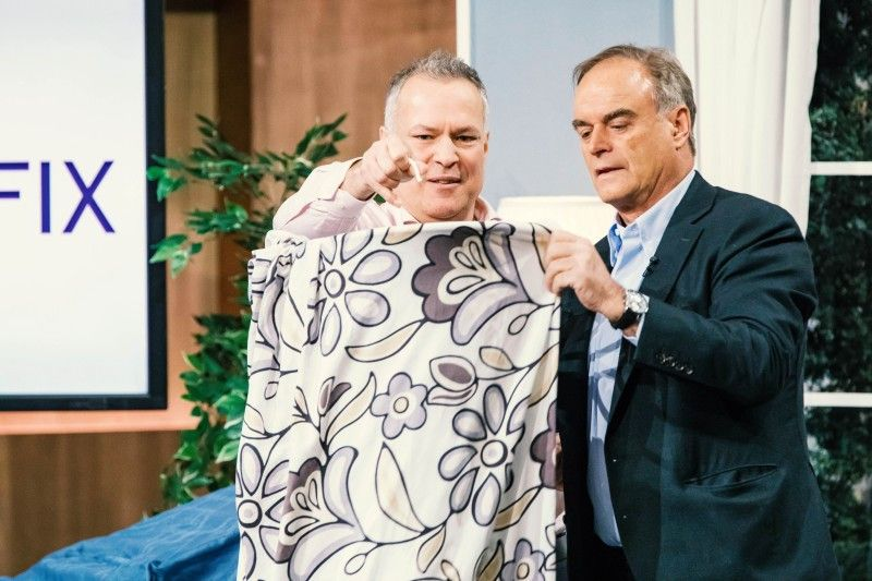 """<p><b>Der Gründer und sein Produkt</b>: Andreas Plath (48) hat """"Trockenfix"""" entwickelt, einer Hängekonstruktion, mit der man Bettwäsche platzsparend und schneller als üblich trocknen kann.<p><b>Der Wunsch</b>: 150.000 Euro für einen Firmenateil von 20 Prozent.</p> <p><b>Der Deal</b>: Ralf Dümmel lässt es dümmeln und investiert 200.000 Euro für 49 Prozent der Firmenanteile.</p>"""