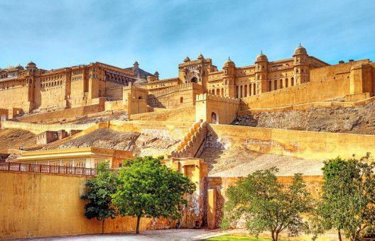 Attraktion Indien: Das nördlich von Jaipur gelegene Fort Amber ist ein beliebtes Touristenziel.