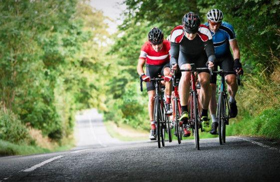 Sportlich unterwegs: Radfahren ist gesund.