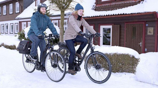 Für E-Bike-Akkus gilt: Gut geschützt und warm durch den Winter.