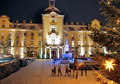 Das Schloss Bückeburg entfaltet im Winter seinen besonderen Zauber.