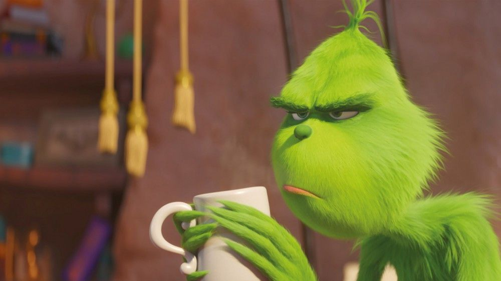 Kaffee muntert die Laune des Grinch nicht auf. Schließlich steht Weihnachten vor der Tür, das von ihm verhasste Fest.