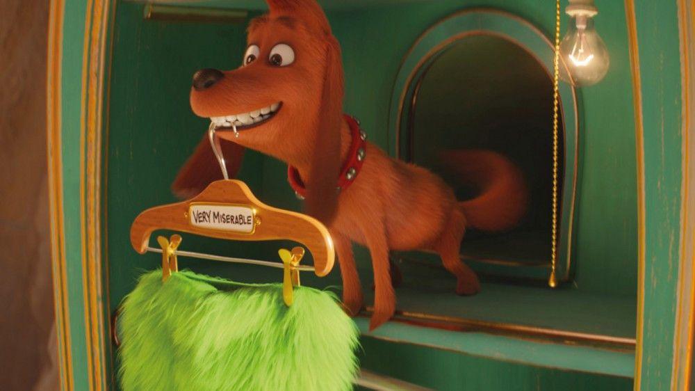 """Seinen vierbeinigen Freund Max hat der Grinch immer an seiner Seite. Bei ihm sieht man klar die Handschrift der Macher von """"Pets"""", die auch hier federführend waren."""