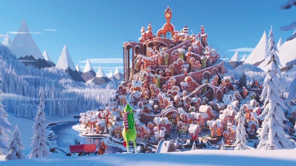 Eine wundervolle Weihnachtswelt: Das Dorf könnte idyllischer nicht aussehen, nur dem Grinch gefällt es nicht.