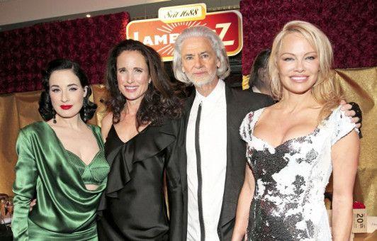 Prominenz zu Gast: Dita von Teese, Andie MacDowell und Pamela Anderson (v.l.).