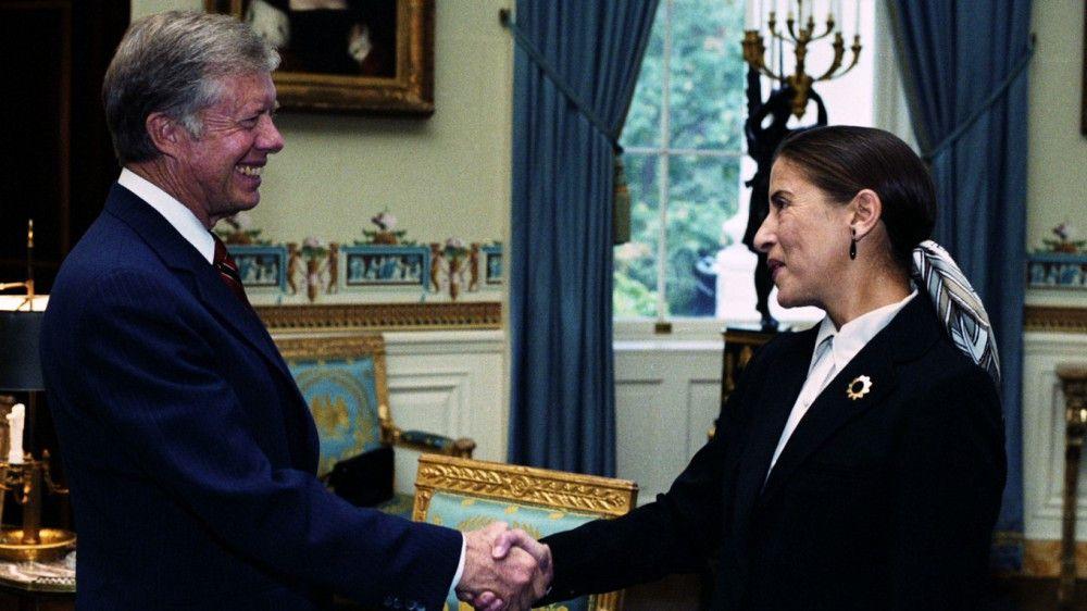 Ausgezeichnete Juristin: 1980 ernennt Präsident Jimmy Carter Ruth Bader Ginsburg zur Richterin am Berufungsgericht der Vereinigten Staaten.