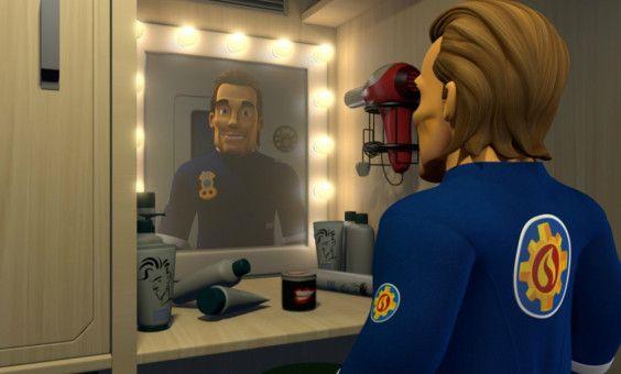 Flex Dexter spielt einen Feuerwehrmann - und wäre gern der eigentliche Star des Films.