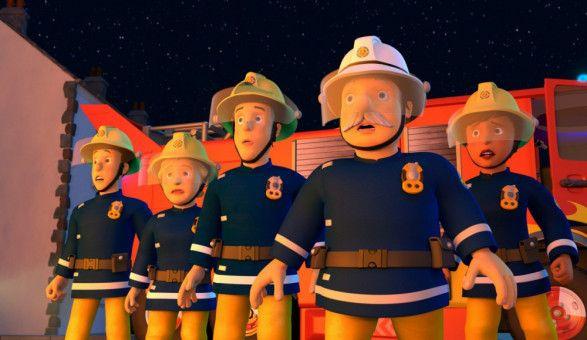 Die Feuerwehrleute von Pontypandy erfassen den Ernst der Lage sofort.