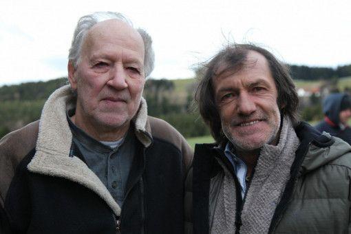 Werner Herzog und Hans Kammerlander. Herzog begleitete Kammerlander 1984 auf der Gasherbrum-Expedition mit Reinhold Messner.