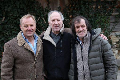 Regisseur Gerald Salmina mit Werner Herzog und Hans Kammerlander.
