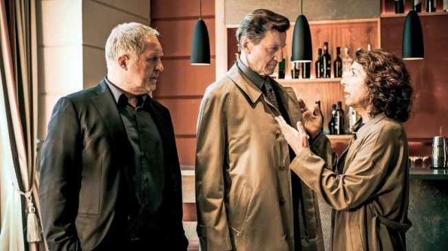 Wiener Trio: Harald Krassnitzer, Hubert Kramar und Adele Neuhauser.