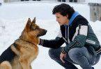 Raimunds Schäferhund macht Denis (Emilio Sakraya) das Leben schwer.